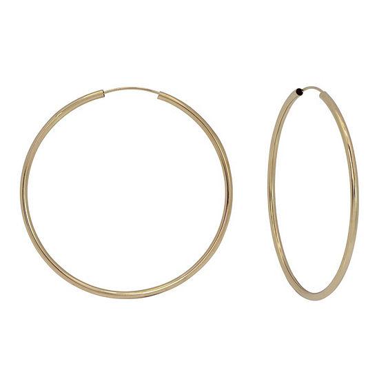 14K Gold 39.1mm Hoop Earrings
