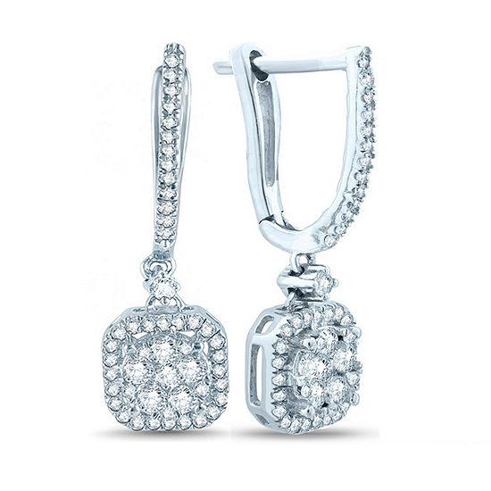 5/8 CT. T.W. Genuine White Diamond 10K Gold Ear Climbers