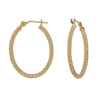 14K Gold 22mm Hoop Earrings
