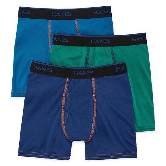 Hanes Little Kid / Big Kid Boys 3 Pair Boxer Briefs