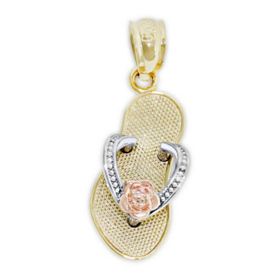 Womens 14K Tri-Color Gold Pendant