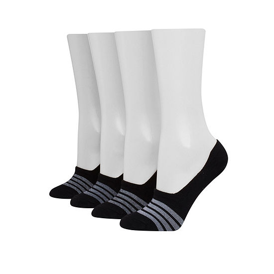 Hanes 4 Pair Liner Socks Womens