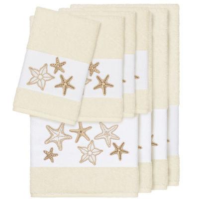 Linum Home Textiles 100% Turkish Cotton Lydia Embellished Towel Set