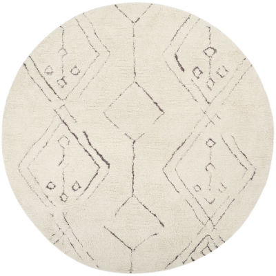 Safavieh Casablanca Collection Claud Geometric Round Area Rug