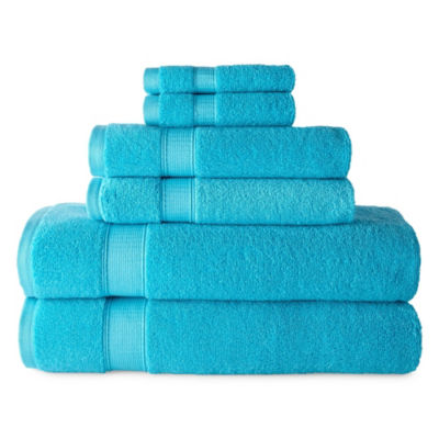 JCPenney Home Performance 6-Pc Bath Towel Set 6-pc. Bath Towel Set