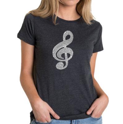 Los Angeles Pop Art Women's Premium Blend Word ArtT-shirt - Music Note
