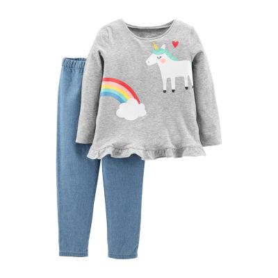 Carter's 2pc Unicorn Pant Set - Toddler Girl
