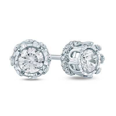1/2 CT. T.W. White Diamond 10K Gold 4.1mm Stud Earrings