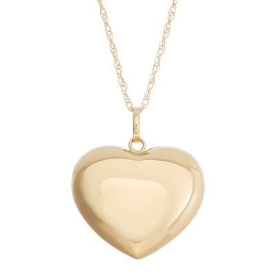 Made In Italy Womens 14K Gold Heart Pendant Necklace