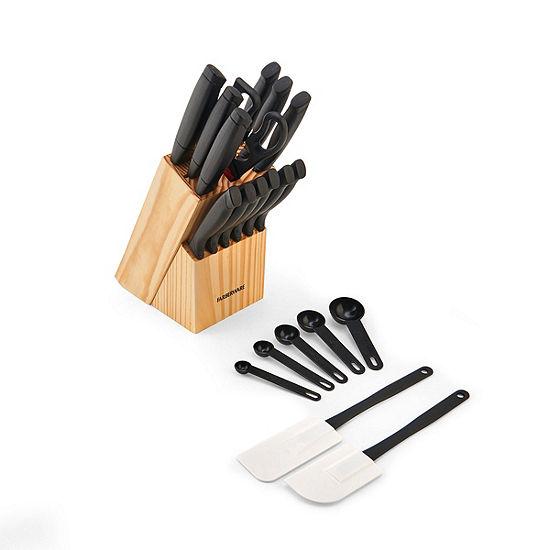 Farberware 21-Pc. Wave Edge Cutlery Set 21-pc. Knife Block Set