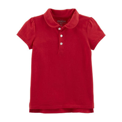 Oshkosh Short Sleeve Knit Polo Shirt - Toddler Girls