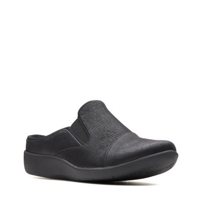 Clarks Womens Sillian Free Clogs Slip-on Round Toe