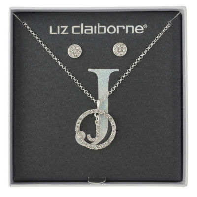 Liz Claiborne Womens 2-pack Clear Jewelry Set