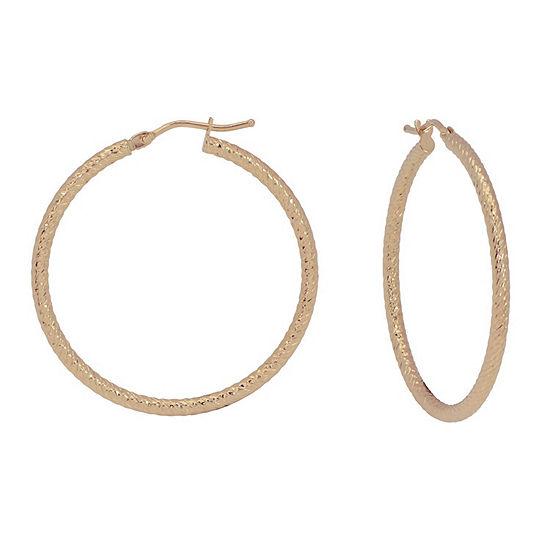 Made In Italy 14K Gold 33mm Hoop Earrings