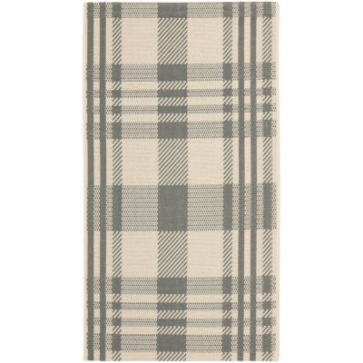 Safavieh Courtyard Collection Cori Plaid Indoor/Outdoor Area Rug