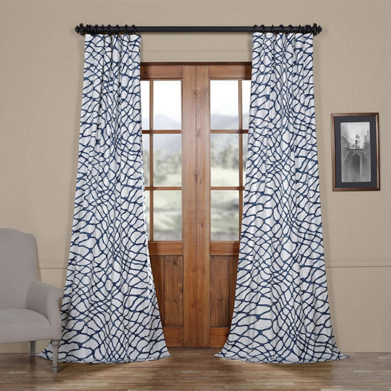 Exclusive Fabrics & Furnishing Ellis Cotton Twill Rod-Pocket/Back-Tab Curtain Panel