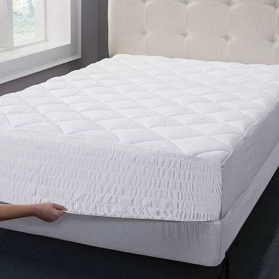 Bed Tite Cotton Top Mattress Pad with Bed Tite Skirt