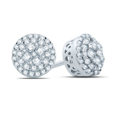 1/3 CT. T.W. White Diamond 14K Gold 7.5mm Stud Earrings