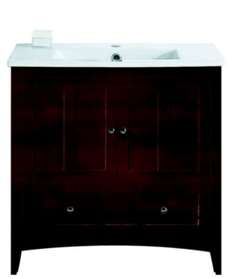 35.5-in. W Floor Mount Walnut Vanity Set For 1 Hole Drilling