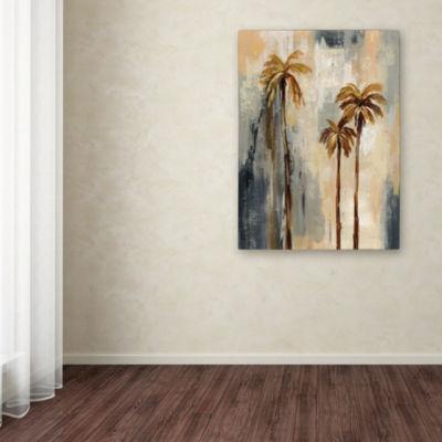 Trademark Fine Art Silvia Vassileva Palm Trees I Giclee Canvas Art
