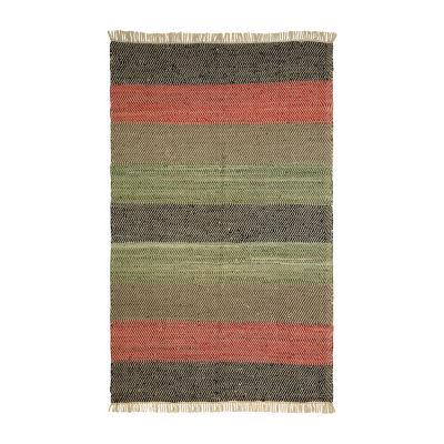 St. Croix Trading Matador Striped Leather Chindi Rectangular Rugs