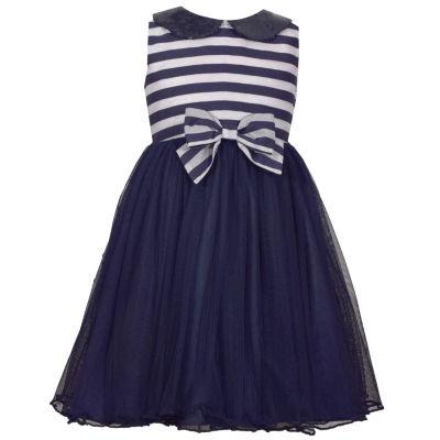 Bonnie Jean Sleeveless Stripe A-Line Dress - Preschool Girls