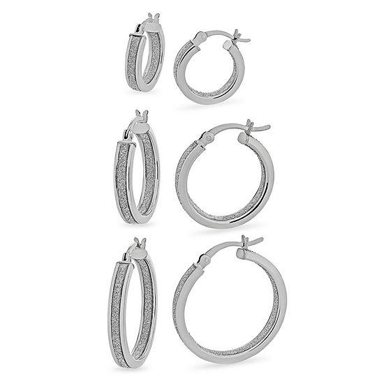 3 Pair Sterling Silver Earring Set