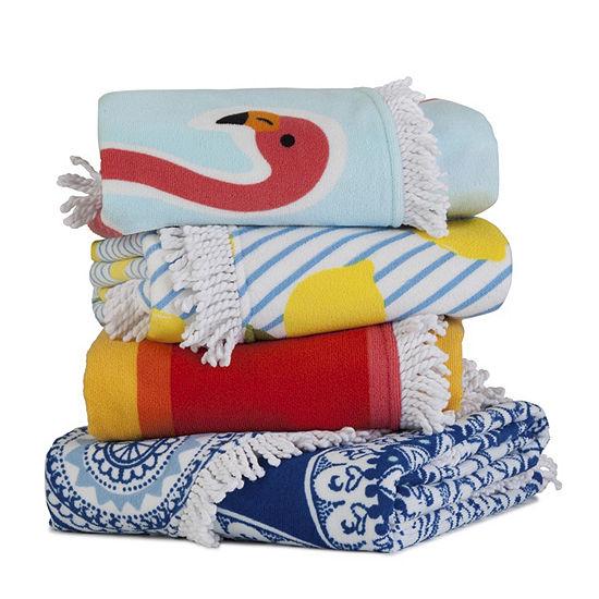 Seaside Living Round Medallion Beach Towel