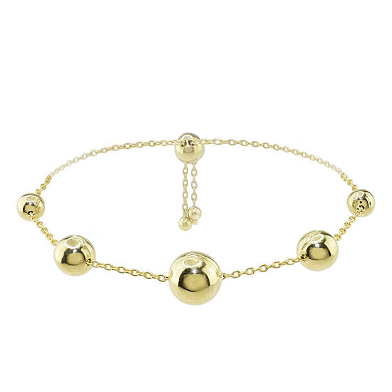 Sechic 14K Gold 9 Inch Solid Link Chain Bracelet