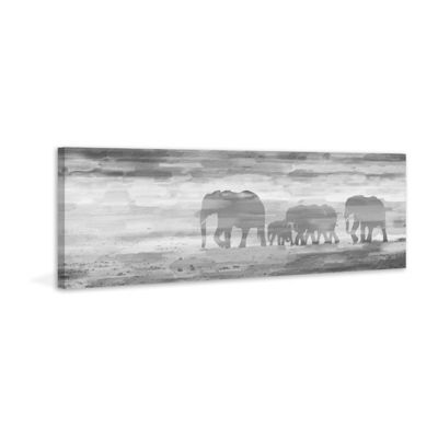 Parade of Tusks Painting Print on Wrapped Canvas