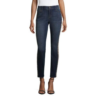 Liz Claiborne Tuxedo Stripe Flexi Fit Skinny Jean