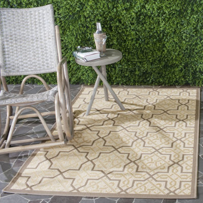 Safavieh Courtyard Collection Aldous Geometric Indoor/Outdoor Area Rug