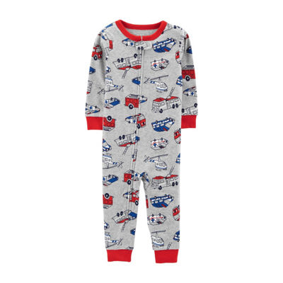 Carter's Boys Fleece One Piece Pajama Long Sleeve Round Neck