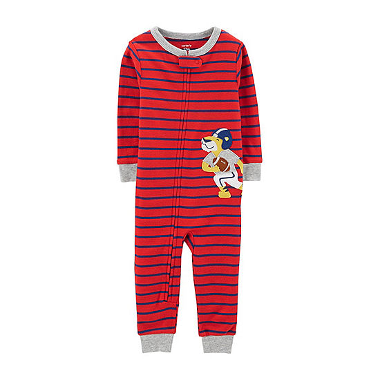 18d48bc80b37 Carters Long Sleeve One Piece Pajama Toddler Boys JCPenney