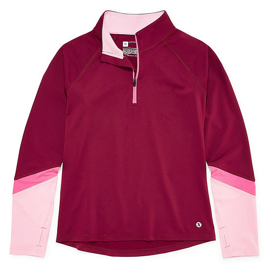 Xersion Quarter-Zip Pullover Girls 4-16 and Plus