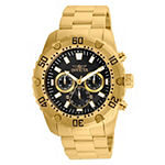 Invicta Pro Diver Mens Gold Tone Stainless Steel Bracelet Watch-24834