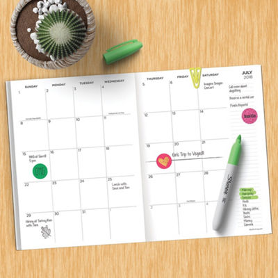 Tf Publishing July 2018 - June 2019 Leaves Monthly Planner