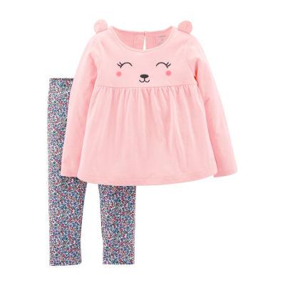 Carters 2pc Kitty & Floral Legging Set-- Toddler Girl