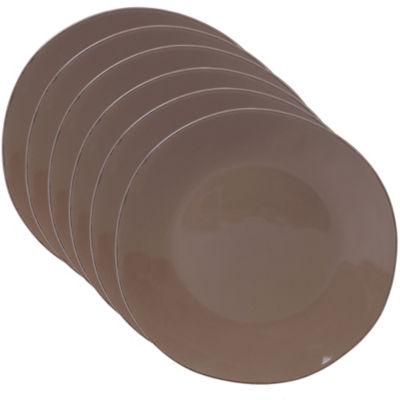 Certified International Harmony Taupe 6-pc. Dinner Plate