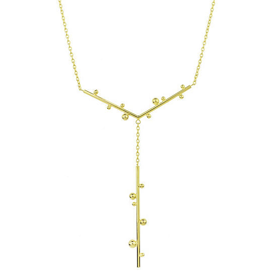 """Sechic """"Globes"""" Womens 14K Gold Y Necklace"""