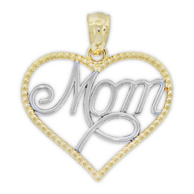 Womens 14K Two Tone Gold Heart Pendant