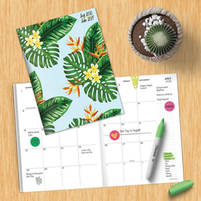 July 2018 - June 2019  Leaves Monthly Planner