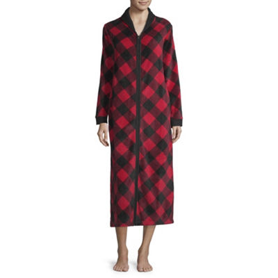 Spencer Womens Fleece Robe Long Sleeve Long Length