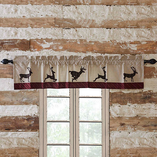Rustic & Lodge Window Wyatt Deer Valance