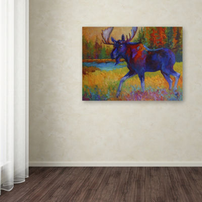 Trademark Fine Art Marion Rose Majestic Moose Giclee Canvas Art