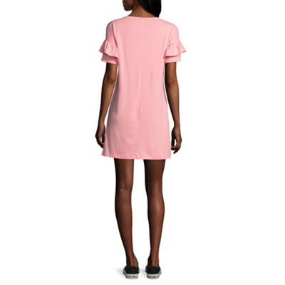 City Streets Short Sleeve T-Shirt Dresses