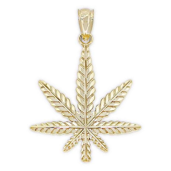 Womens 14K Gold Flower Pendant