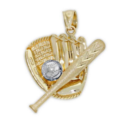 Womens 14K Two Tone Gold Pendant