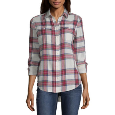 Peyton & Parker Long Sleeve Button-Front Shirt