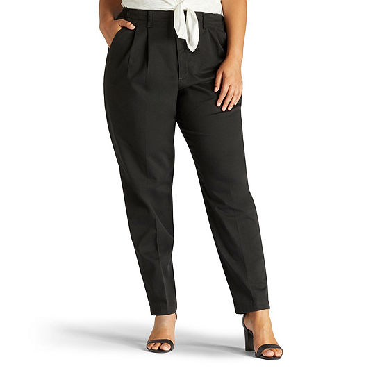 f066038f001 Lee Side Elastic Twill Pants Plus JCPenney